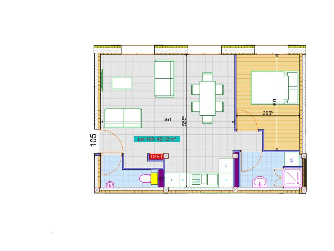 Appartement F2 BOIS LE ROI (77590) ETUDE IMMOBILIERE PHILIPPE LAMBERT